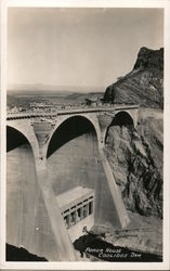 Power House, Coolidge Dam, 1930 Postcard