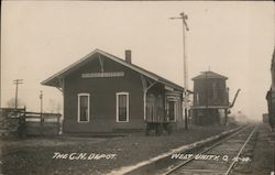 The G.N. Depot Train Station Postcard