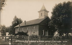 Rare: Emanuel M. E. Church and Floral Grove Cemetery Postcard