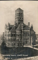 Williams County Court House Postcard