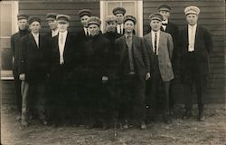 Group of young men Postcard