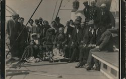 On the Deck of S.S. Buckman, 1910 Postcard