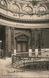 Interior of Court House Postcard