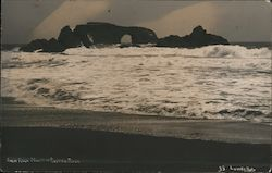 Arch Rock, Mouth of Russian River - Goat Rock Beach Postcard