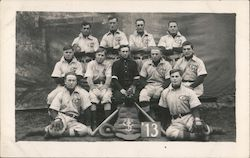 1913 Baseball Team Postcard