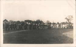 Marching Band, Baseball Team Postcard