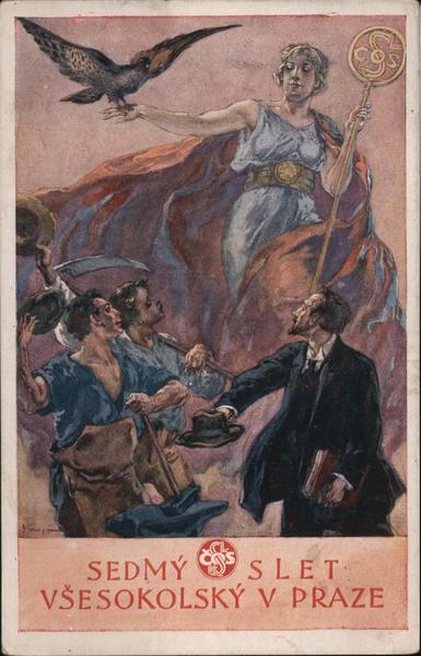 Sedmy Slet Vsesokolsky V Praze Czechoslovakia Exposition