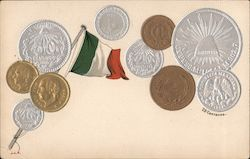 Collection of Mexican Coins Postcard