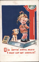 O'se Gettin' Awful Heavy, I must Cut Out Chocklit Postcard