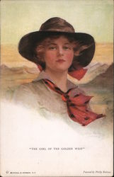 """The Girl of the Golden West"" Postcard"