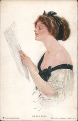 An Old Song - Lady With Sheet Music Postcard
