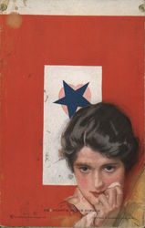 Her Heart's in the Service, Blue Star Postcard