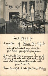 Table in dining room - 1933 Postcard