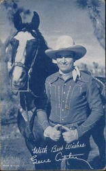 Gene Autry with Champion the Wonder Horse Arcade Card