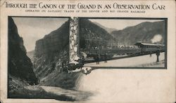 Through the Canon of the Grand in an Observation Car Postcard