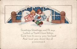Christmas Greetings, Children in Bed