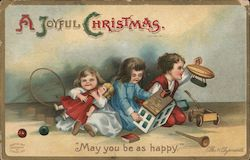"A Joyful Christmas ""May You Be As Happy"" Postcard"
