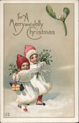 For A Merry and Jolly Christmas Postcard
