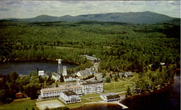 Aerial View Of Saranac Inn New York