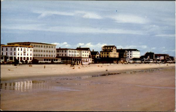 Old Orchard Beach And Hotels From Ocean Pier Maine