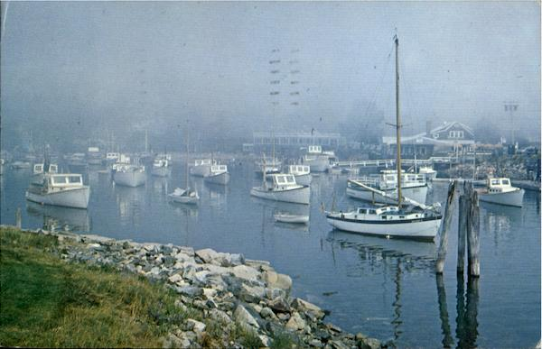 A Foggy Morning In Perkins Cove Ogunquit Maine