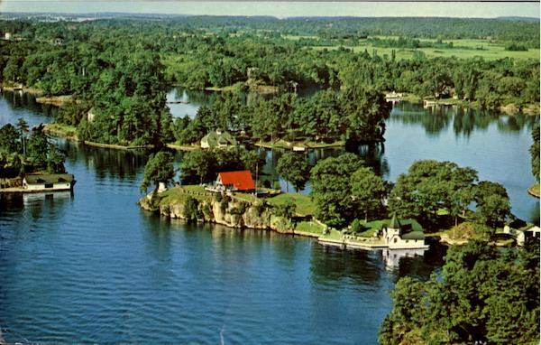 A General View Of Million Dollar Row Thousand Islands New York
