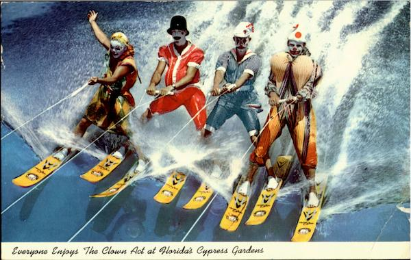 Everyone Enjoys The Clown Act , Florida's Cypress Gardens