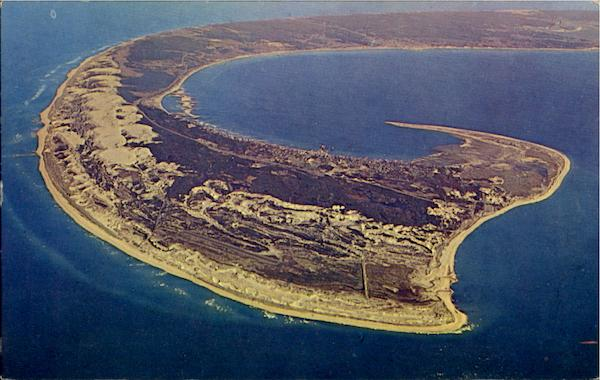Unusual Aerial View Of Cape Cod Massachusetts