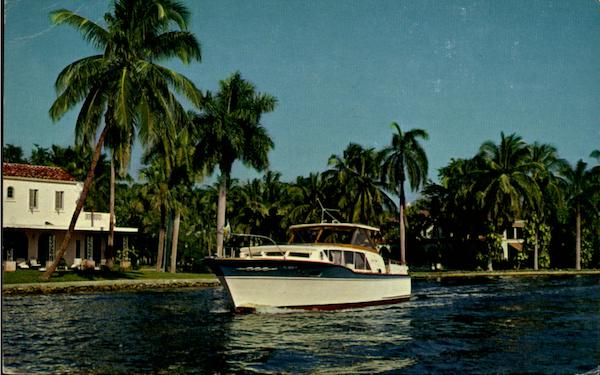 15,000 boats and 240 miles of canals Fort Lauderdale Florida