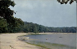 Beach Scene At Big Star Lake Postcard