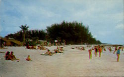 Fabulous Manatee County Beach Postcard