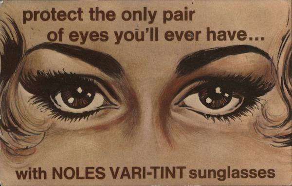 Noles Vari-Tint Sunglasses Advertising