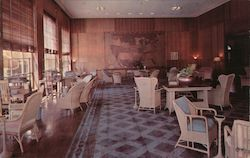 Mammoth Springs Hotel Lounge Postcard