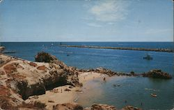 Entrance to Balboa Bay from Corona Del Mar - View of Ocean Postcard