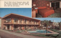 Oceanaire & Beach Motels Postcard
