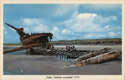 Peter Iredale Wrecked 1906 Postcard