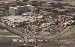 Town and Country Hotel, Aerial View Postcard