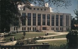 University of Wisconsin, the New University Library and Lower Campus Postcard