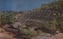 World Famous Hollywood Bowl World's Largest Natural Amphitheater, Home of World-Famous Symphonies Under The Stars Postcard
