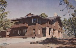 Asilomar, The Lodge, Remodeled 1953 Postcard