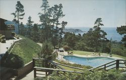 Highlands Inn, View taken from the Lanal room across the heated swimming pool Postcard