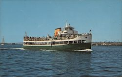 Harbor Excursion Boat Postcard