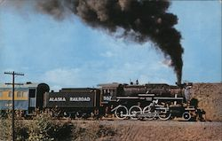 Alaska Railroad's last steam locomotive Postcard