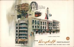 The Berghoff Restaurant - at Two Locations - 17 W. Adams St. and 123 N. Wabash Ave. Postcard