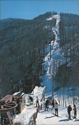 Cataloochie Ski Area Postcard