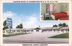 Lakeside Motel Postcard