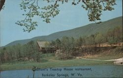 Coolfont's Treetop House Restaurant Postcard