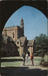 Looking Through The Arch towards Men's Dormitories of Kilgo Quandrangle, Duke University Postcard