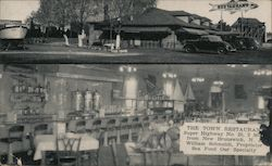 The Town Restaurant Postcard