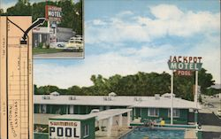 Jackpot Motel - At 2nd Street and Wyoming Street, Between Main and South Fifth Streets Postcard